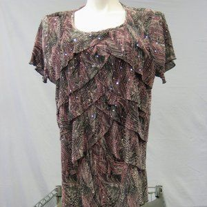 Dress Barn Embellished Top Size 3X